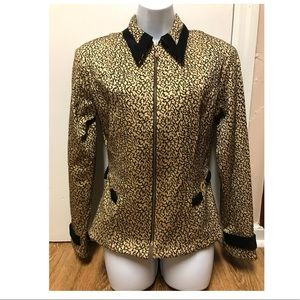 Mesmerize Gold Small Size Full Zip Jacket